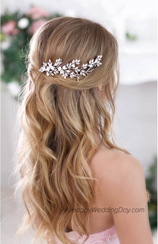 Амалтея - гребень в прическу невесты в виде свадебной веточки для волос