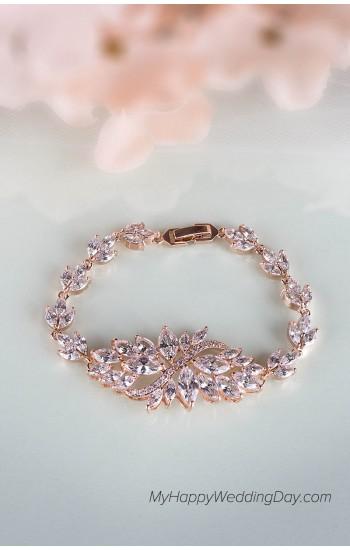 АТЕНА женский браслет с камнями на свадьбу