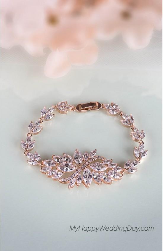 АТЕНА - женский браслет с камнями на свадьбу