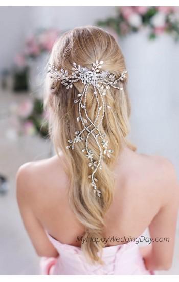 ДИАНТЕ - украшение для прически на свадьбу на длинные волосы