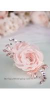 ДИОНА персиковое украшение для волос невесты