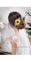 КАЛЛИ - свадебная заколка в виде подсолнуха на подсолнуховую или осеннюю свадьбу