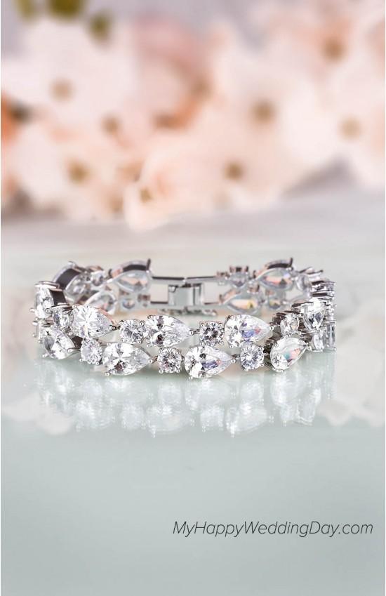 Члорис - свадебный браслет с цирконием